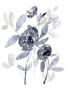 Peonies in Grey I by Jennifer Goldberger