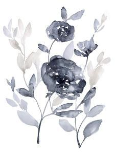 Peonies in Grey II by Jennifer Goldberger
