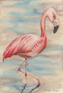 Pink Flamingo I by Jennifer Goldberger