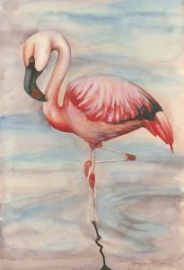 Pink Flamingo II by Jennifer Goldberger