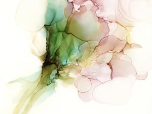 Pink & Turquoise Bloom I by Jennifer Goldberger
