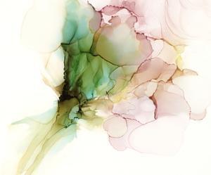 Pink & Turquoise Bloom I by Jennifer Goldberger