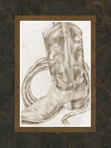 Sepia Boots I by Jennifer Goldberger