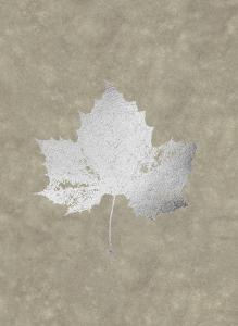 Silver Foil Leaf II on Lichen Wash by Jennifer Goldberger