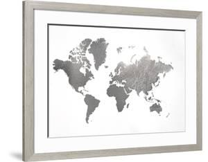 Beautiful world maps framed posters artwork for sale posters and silver foil world map gumiabroncs Image collections