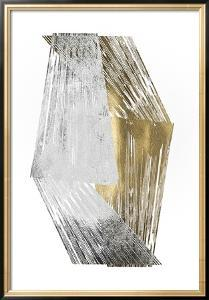 Silver & Gold Foil Stripes by Jennifer Goldberger