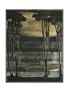 Small Nouveau Trees I by Jennifer Goldberger