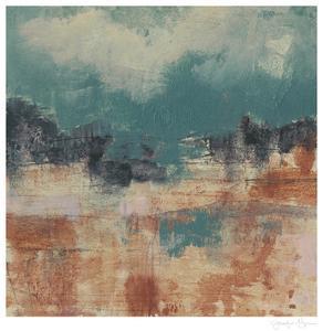 Teal Sky II by Jennifer Goldberger