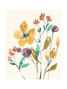 Whimsy Flowers I by Jennifer Goldberger