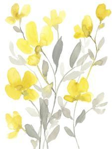 Yellow & Grey Garden I by Jennifer Goldberger