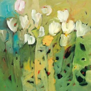 White tulips II by Jennifer Harwood