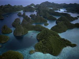Karst islands forming Wayag by Jennifer Hayes
