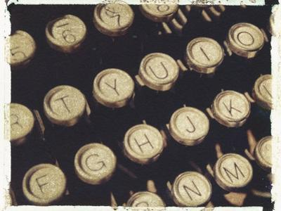 Old Typewriter Keys by Jennifer Kennard
