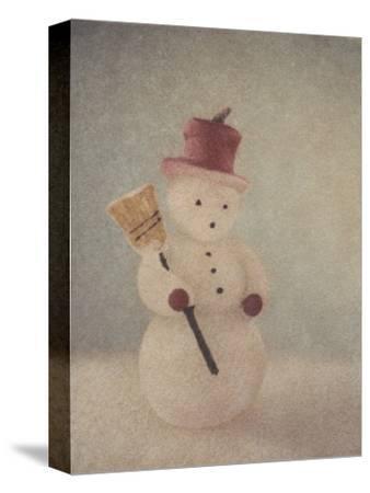 Snowman and Broom by Jennifer Kennard