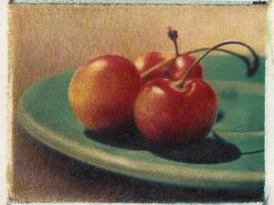 Three Rainier Cherries by Jennifer Kennard