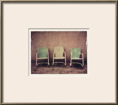 Three Turquoise Chairs by Jennifer Kennard