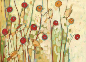 Five Little Birds Playing Amongst the Poppies by Jennifer Lommers