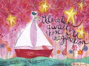 Adventure Awaits - Sailboat by Jennifer McCully