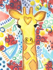 Watercolor - Giraffe by Jennifer McCully