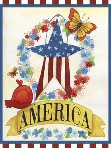 America Banner Star by Jennifer Nilsson