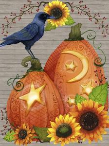 Autumn Crow Scene by Jennifer Nilsson