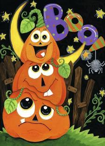 BOO Jack-o-lanterns by Jennifer Nilsson