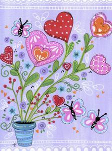 Doodle Heart Flowers by Jennifer Nilsson