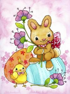 Egg Bunny and Chick by Jennifer Nilsson