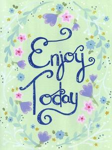 Enjoy Today Mint Floral by Jennifer Nilsson