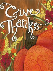 Give Thanks Swirl Pumpkin by Jennifer Nilsson