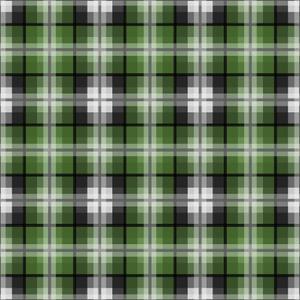 Green Gray Check 2 by Jennifer Nilsson