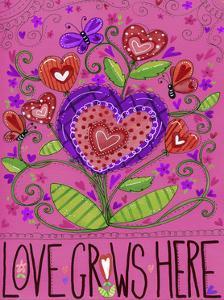 Love Grows Heart Flowers by Jennifer Nilsson
