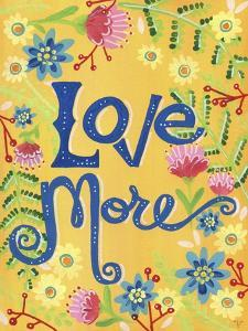 Love More Yellow Floral by Jennifer Nilsson