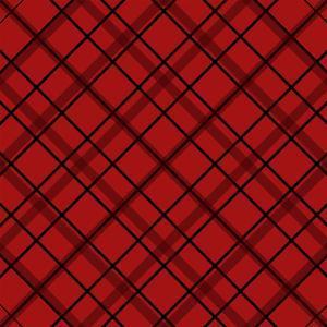 Red Diamond Plaid 2 by Jennifer Nilsson