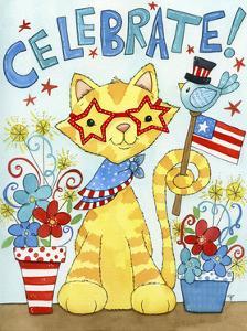 Summer Celebration Cat by Jennifer Nilsson