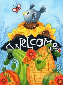 Sunflower Bird Welcome by Jennifer Nilsson