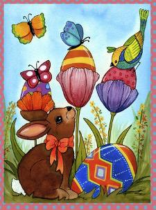 Tulip Egg Bunny by Jennifer Nilsson