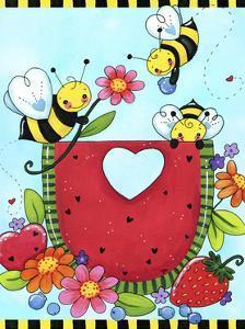 Watermelon Bees by Jennifer Nilsson