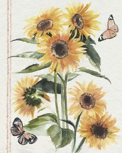 Autumn Sunflowers I by Jennifer Parker