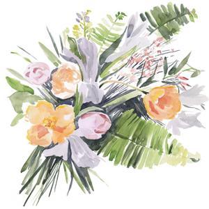 Ferns & Tulips I by Jennifer Parker