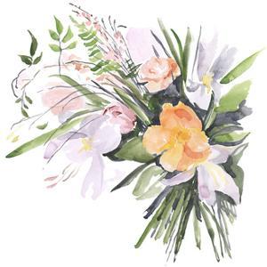 Ferns & Tulips II by Jennifer Parker