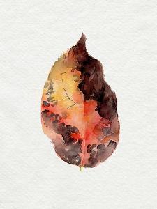 Watercolor Autumn Leaf I by Jennifer Parker