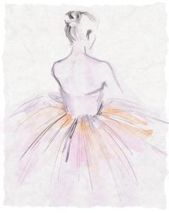 Watercolor Ballerina II by Jennifer Parker