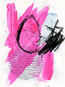 Neon Flamingos I by Jennifer Paxton Parker