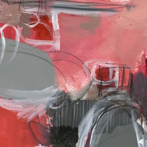 Red & Gray Abstract I by Jennifer Paxton Parker