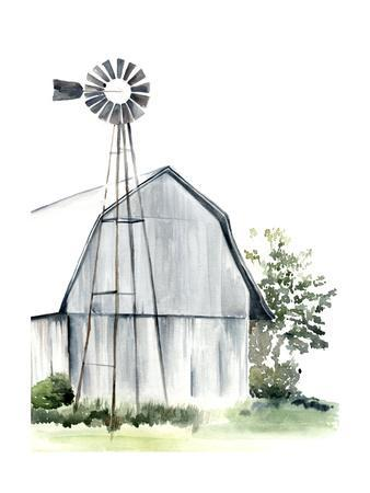 Watercolor Barn I
