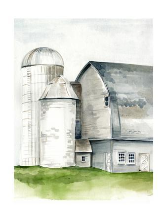 Watercolor Barn II