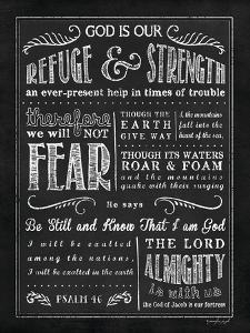 Chalkboard Psalm 46 by Jennifer Pugh