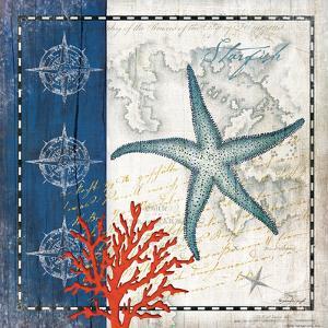 Coastal Blue Starfish by Jennifer Pugh