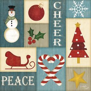 Holiday Sampler Blue - I by Jennifer Pugh